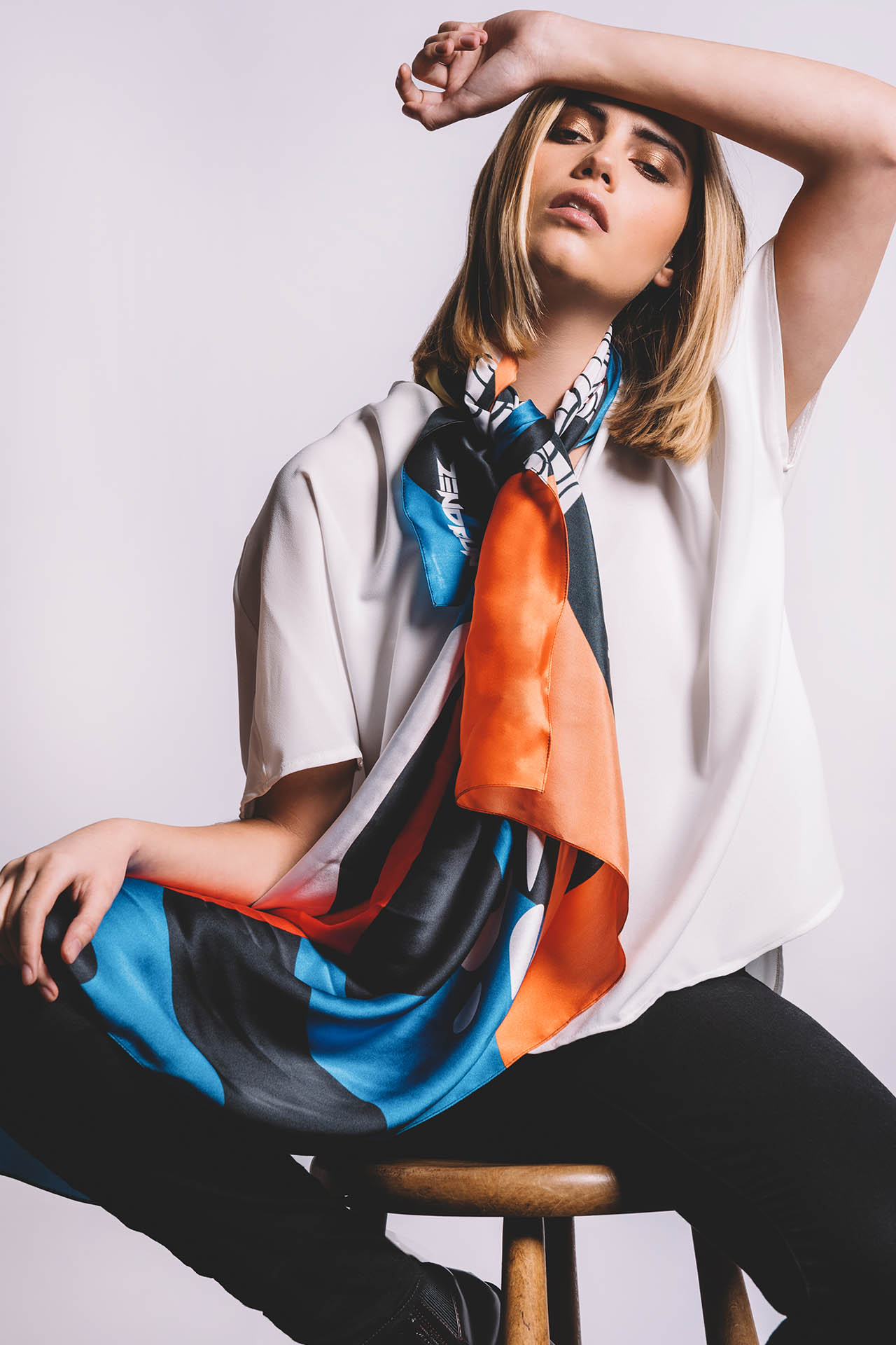 Zendrun scarf lookbook campaign